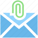 clip, email, letter, mail, message, paper clip