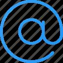 at, at symbol, email icon