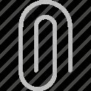 attache, clip, email, paper, sned icon