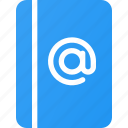 address, book, collection, email icon
