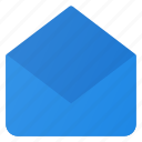 email, envelop, mail, open icon