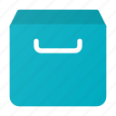 archive, box, email, inbox, mail icon