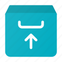 arrow, box, email, inbox, mail, up, upload icon