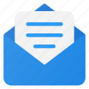 document, email, mail, message, send icon