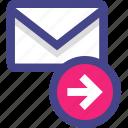 arrow, email, go, next icon
