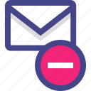 email, envelope, message, negative, neutral icon