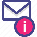 email, envelope, info, information, message icon