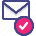 check, email, mark, ok, safe icon