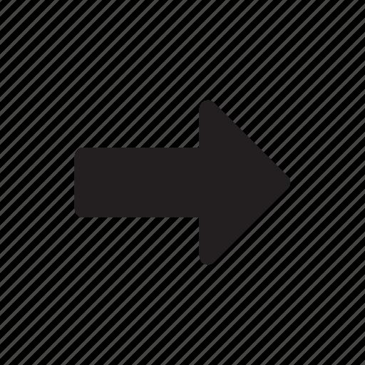 arrow, email, forward, right icon