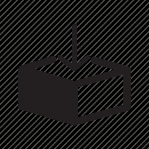 arrow, down, email, enter, inbox, receive icon