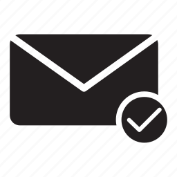 approved, checkmark, email, envelope, mail, yes icon