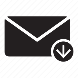 arrow, down, email, envelope, mail, move icon
