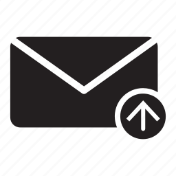 arrow, email, envelope, mail, move, up icon