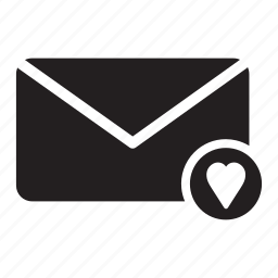 email, envelope, favourite, heart, mail icon
