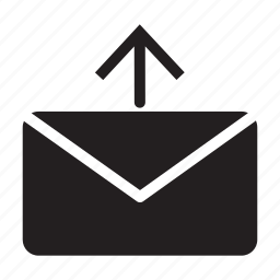 arrow, email, envelope, mail, send, up icon