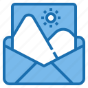 business, communication, connection, digital, image, mail, office icon