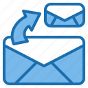 business, communication, connection, digital, mail, office, share icon