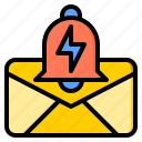 alarm, connection, letter, marketing, office, web, work icon
