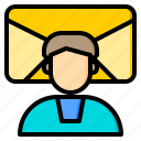 connection, contacts, letter, marketing, office, web, work icon