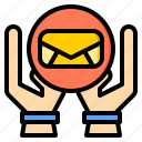 connection, email, letter, marketing, office, web, work icon