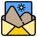 connection, image, letter, marketing, office, web, work icon