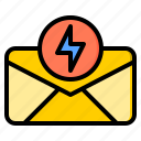 connection, letter, marketing, notification, office, web, work icon