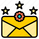 connection, letter, marketing, office, rate, web, work icon