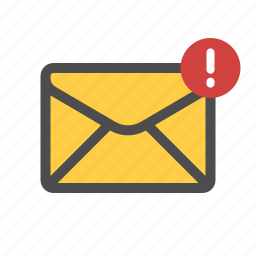 important, mail, warning icon