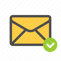 checked, mail, read, sent icon