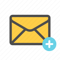 add, mail, new, write icon
