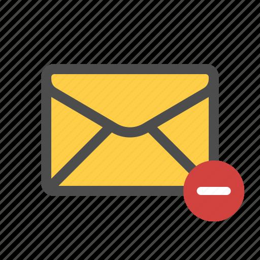cancel, delete, mail, remove icon