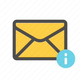 important, information, mail, update icon