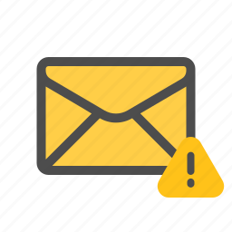 important, mail, notice, warning icon