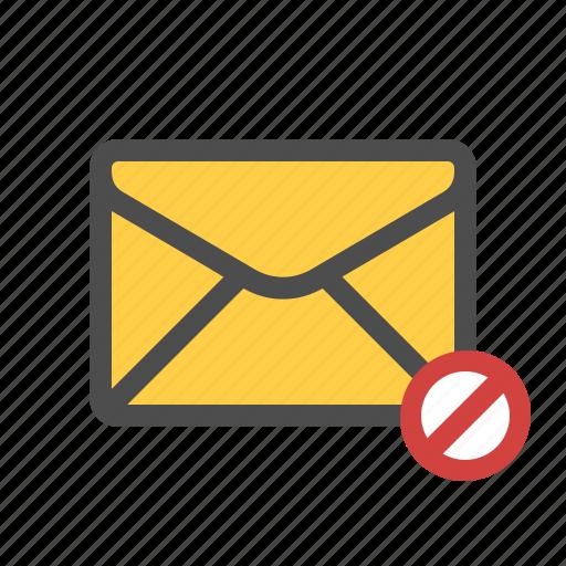 block, blocked, filter, mail icon