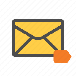 label, labelled, mail, tag icon