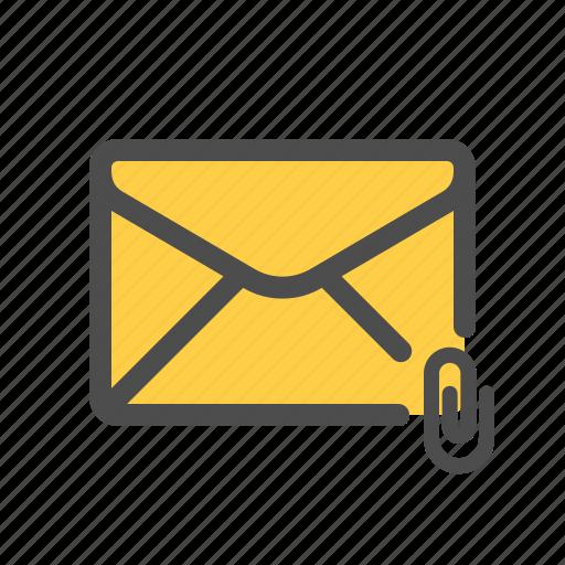 attachment, clip, file, mail icon
