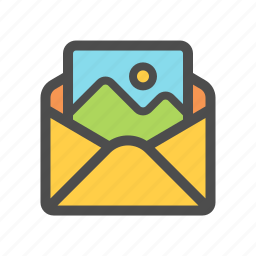 email, mail, multimedia, photo icon