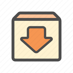 archieve, backup, download, mail icon