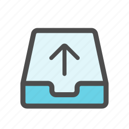 mail, mailbox, outbox, sent icon