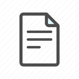document, draft, mail, new icon