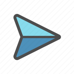 mail, message, paper plane, send icon