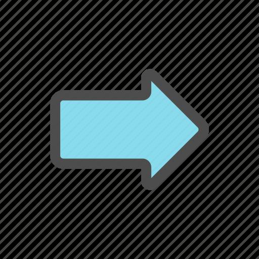 arrow, forward, mail, message icon