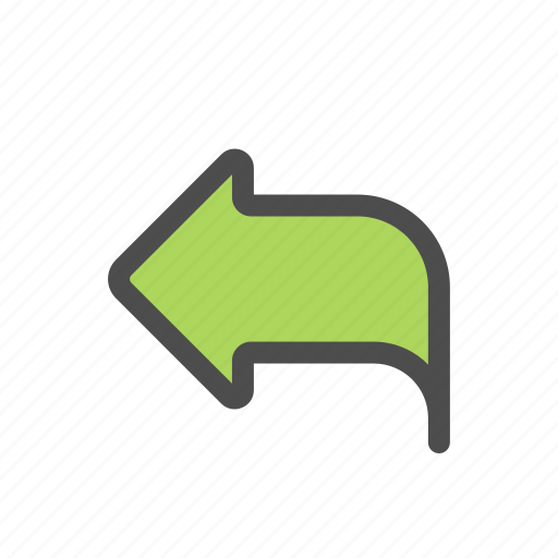 arrow, mail, message, reply icon