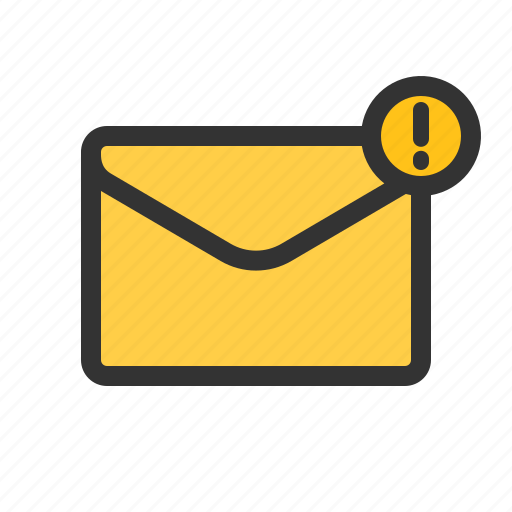 email, important, mail, warning icon