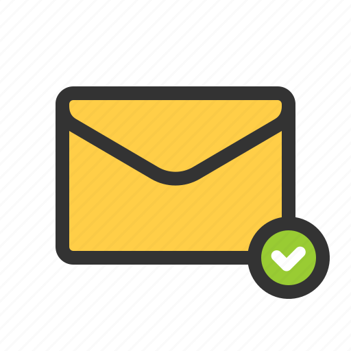 checked, mail, selected, sent icon