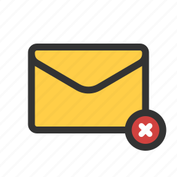 delete, mail, unchecked, unsent icon