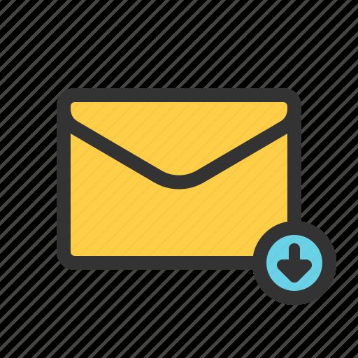 download, mail, restore, update icon