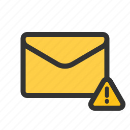 caution, important, mail, warning icon
