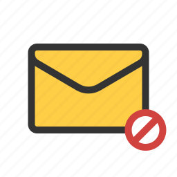 blocked, cancel, mail, unsend icon