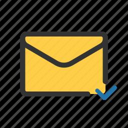 checked, mail, sent, unread icon